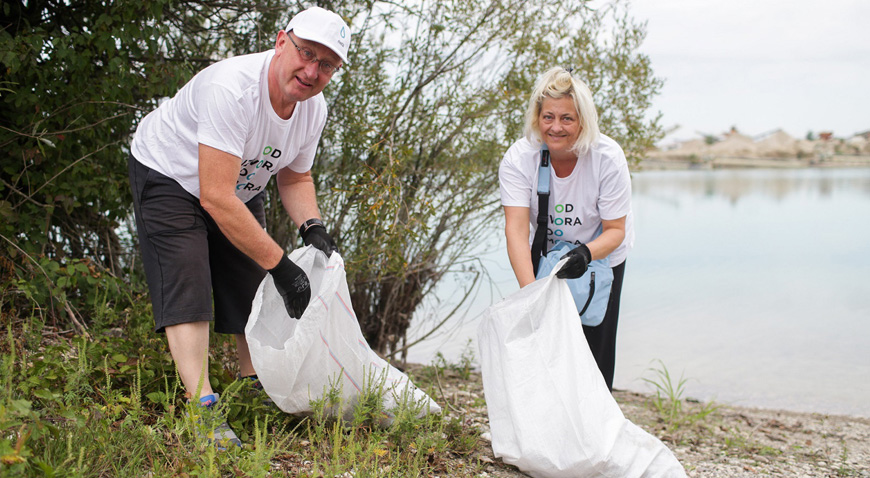 Akcijom čišćenja obale jezera Čiče Velikogoričani obilježili World Cleanup Day