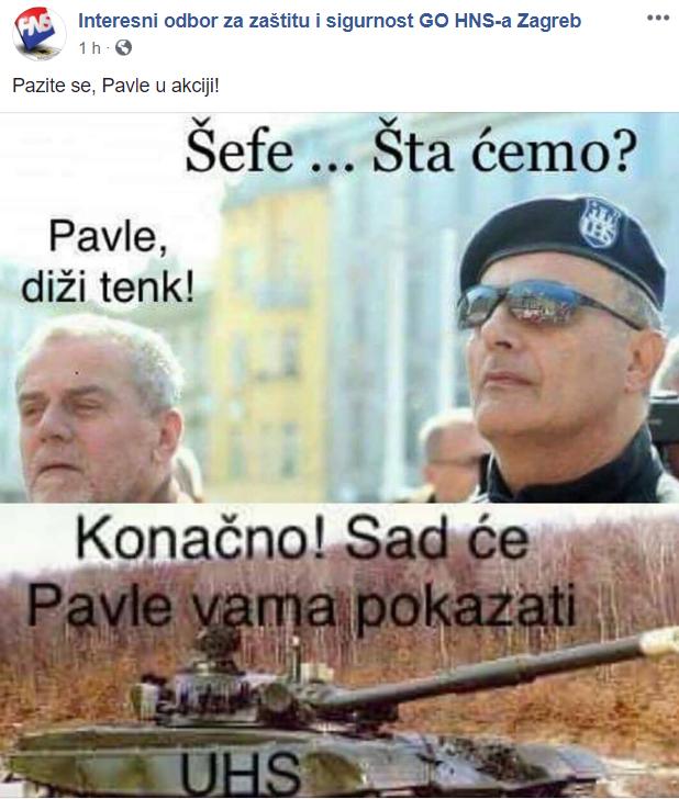 Gradski HNS zbija šale na račun Pavle Kalinića