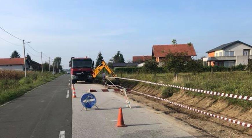 Započeli su radovi na izgradnji nogostupa u Rugvici