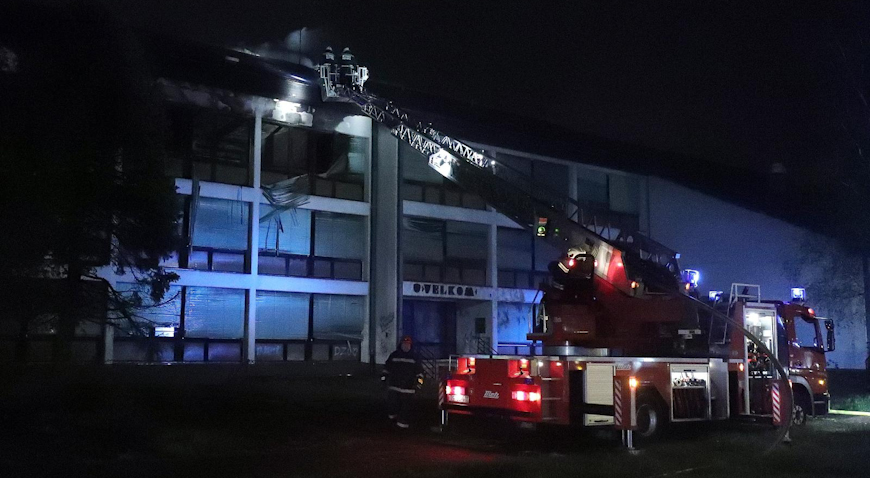 VIDEO: Noćas gorjela zgrada bivšeg Velkoma