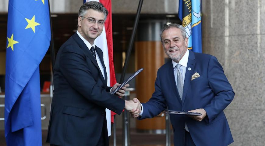 Plenković i Bandić potpisali sporazum o gradnji Nacionalne dječje bolnice