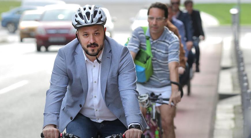 VIDEO: Gordan Maras predvodio biciklističku povorku u svrhu uređenja biciklističkih staza
