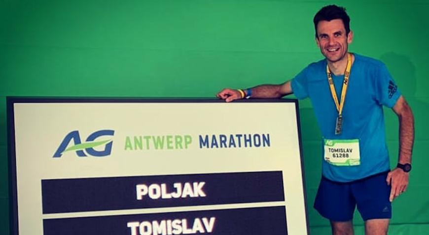 Dugoselski atletičar Tomislav Poljak ostvario odličan maratonski rezultat u belgijskom Antwerpu