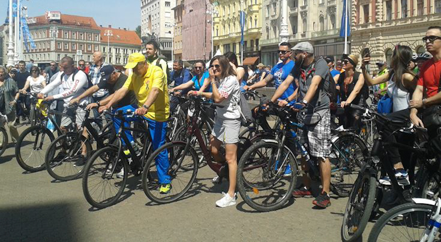 ZAGREBAČKA BICIKLIJADA – Sretnici su kući otišli na novim biciklima
