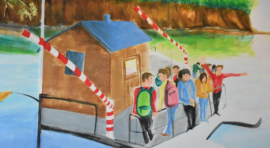 DAN OTVORENIH VRATA OŠ RUGVICA – Otkriven mural posvećen Savi i skeli