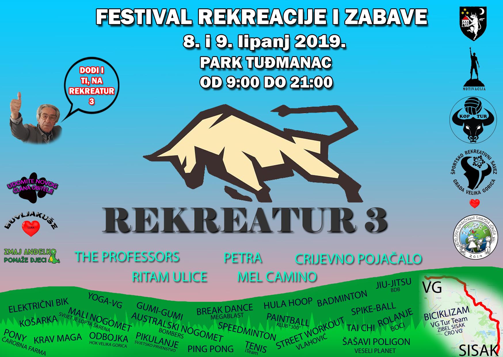 Dođi i ti, na Rekreatur 3 – festival rekreacije i zabave u Velikoj Gorici