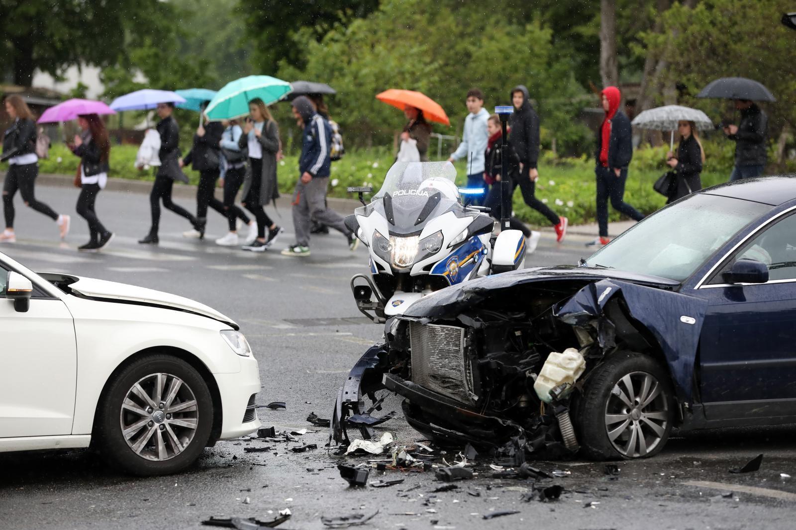 VIDEO: Prometna nesreća kod City Centra East