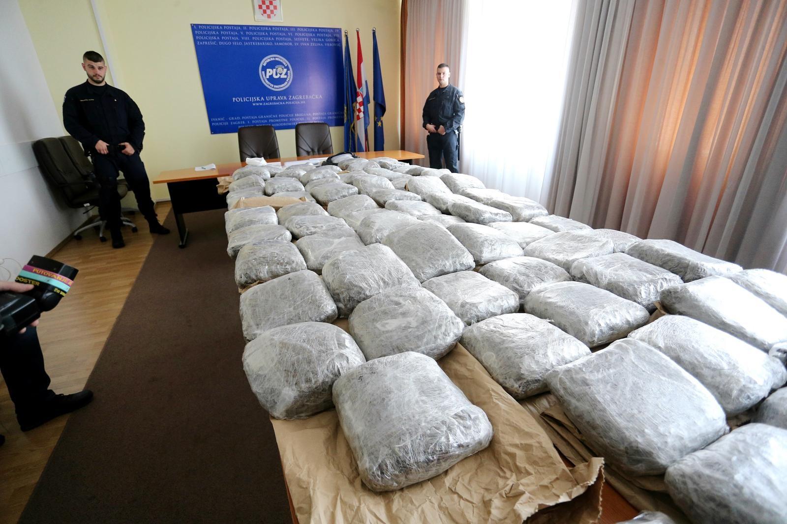 U Zagrebu zaplijenjeno oko 109 kilograma marihuane i preko 500 grama kokaina