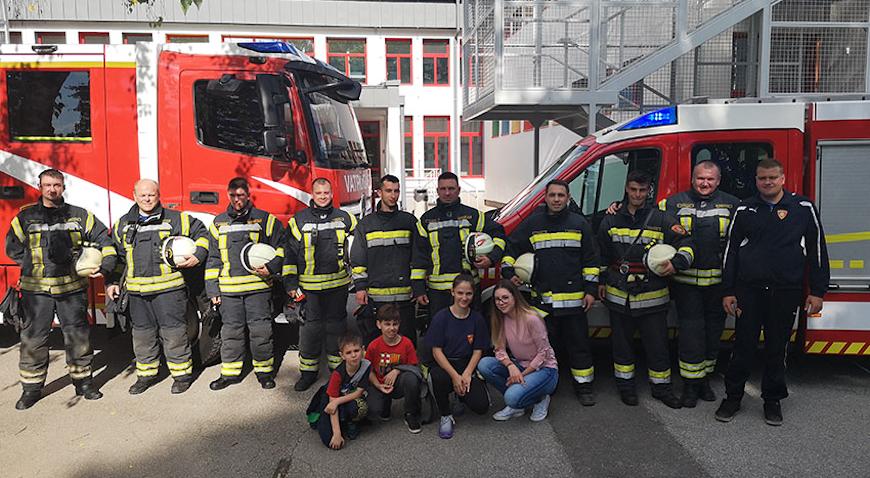 Bistranski vatrogasci spašavali djelatnike i učenike škole