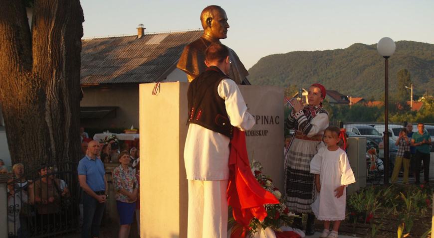 PETROVO U ZAPREŠIĆU – Otkrivena bista blaženog kardinala Alojzija Stepinca
