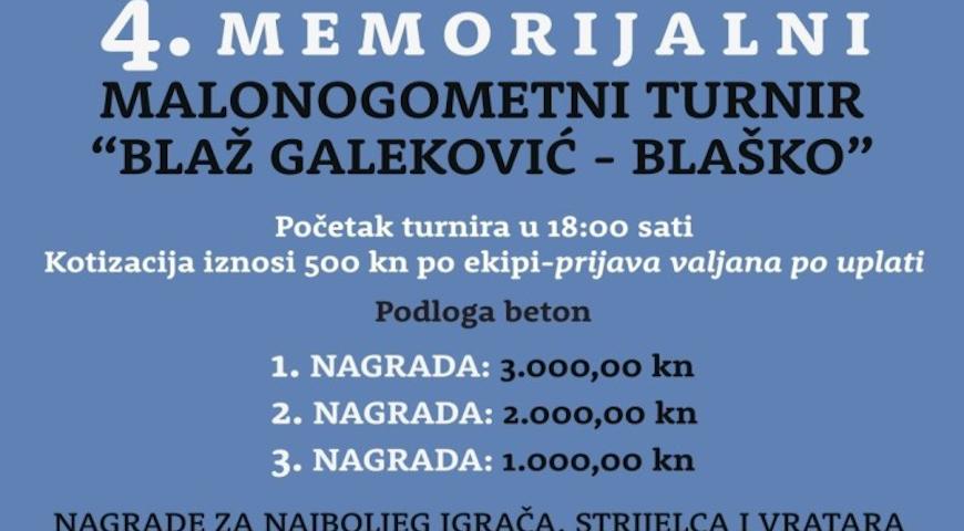 NK Mraclin i GPP ne zaboravljaju Blaža Galekovića-Blaška