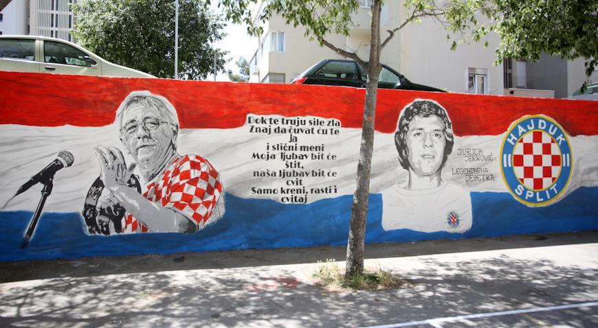 VIDEO: Oliver Dragojević i Jurica Jerković osvanuli na muralu