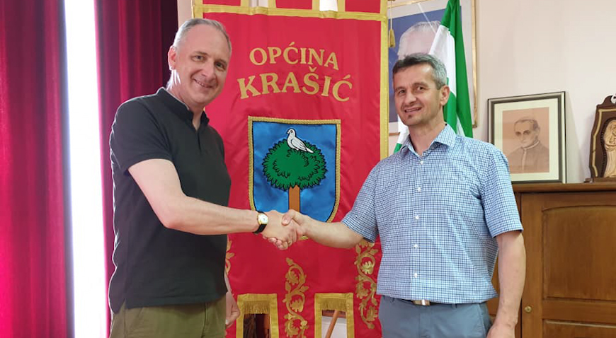 Andro Krstulović Opara posjetio Krašić