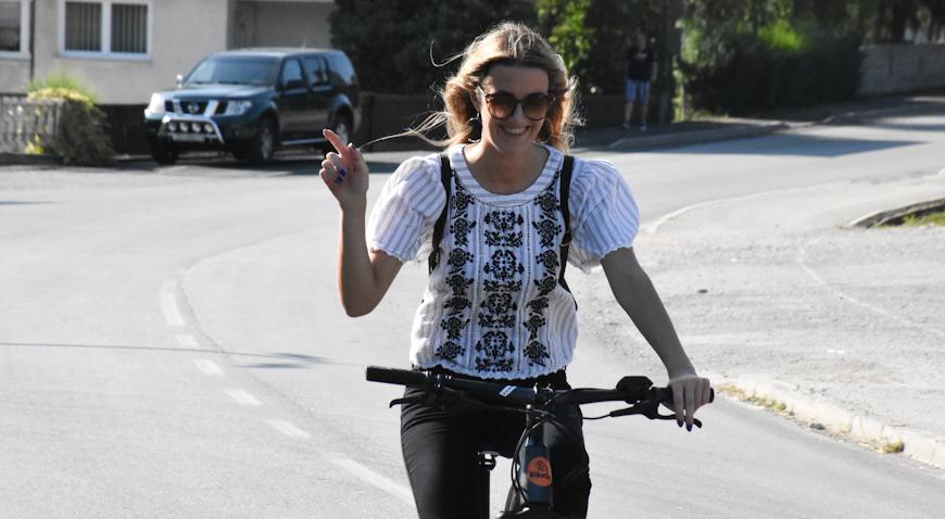 Veseli pozdrav s biciklijade u Dubravici