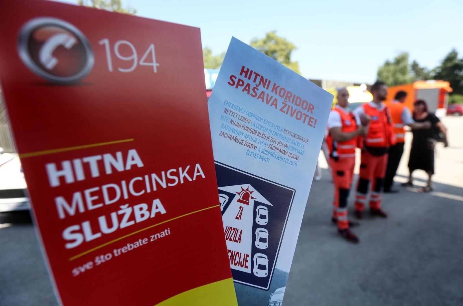 """Na naplatnoj postaji Lučko predstavljena kampanja """"Hitni koridor spašava život"""""""