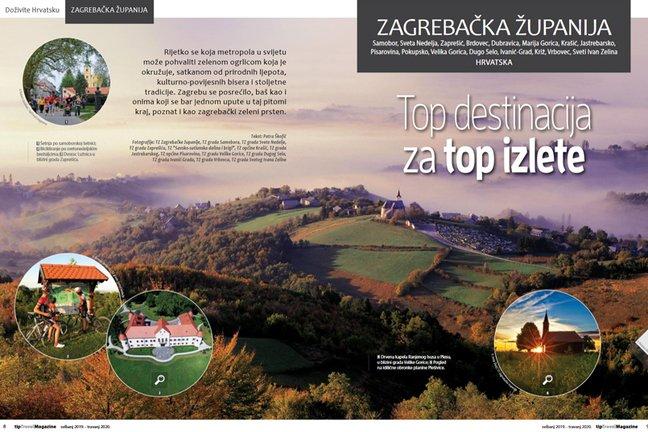 Ljepote Zagrebačke županije u fokusu novog broja tipTravel magazina