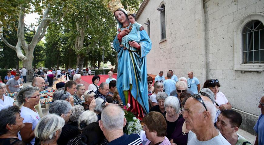 Brojni su se hodočasnici priključili proslavi Male Gospe u Solinu