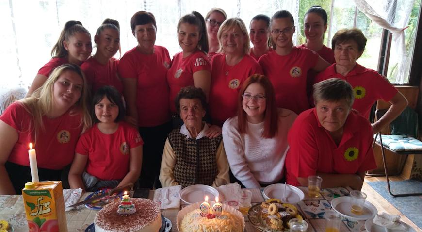 Slatko iznenađenje za Slavicu Keber povodom 90. rođendana