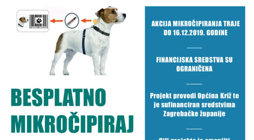 Općina Križ financira mikročipiranje pasa