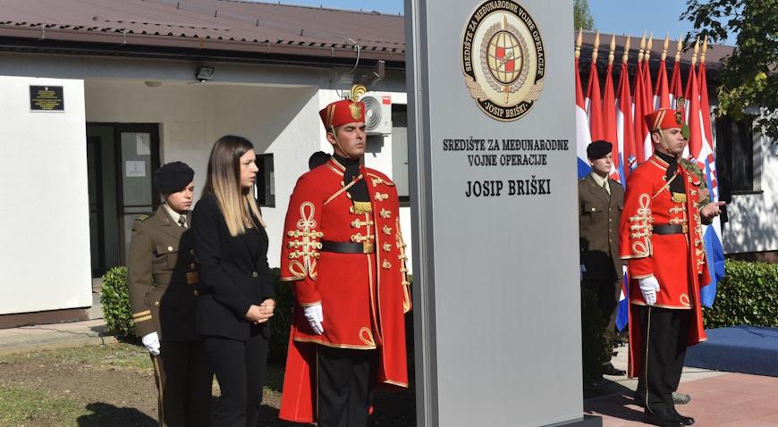 Središte za međunarodne vojne operacije u Svetoj Nedelji preimenovano u čast Josipu Briškom