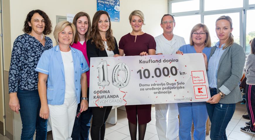 Kaufland povodom rođendana donirao 60 tisuća kuna bolnicama