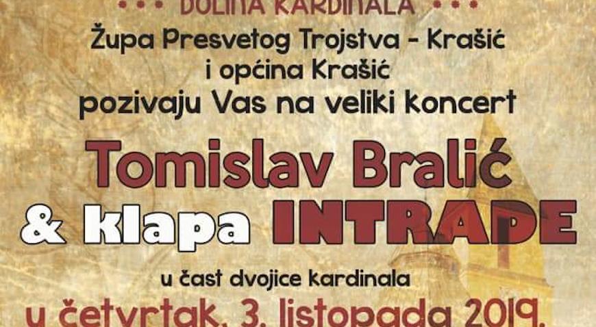 Nastavak slavlja u Krašiću večeras uz Tomislava Bralića i klapu Intrade