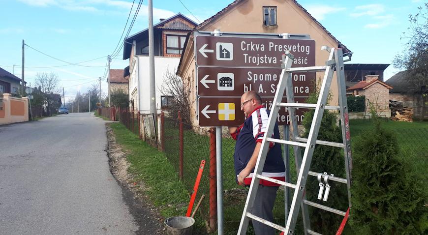 Na području Krašića postavljena nova turistička signalizacija