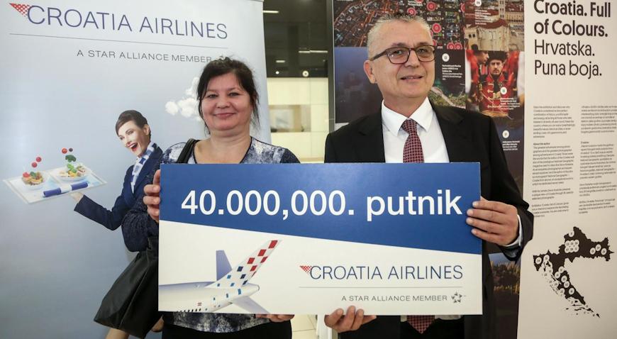 U Zračnu luku dr. Franjo Tuđman sletjela 40 milijunta putnica Croatia Airlinesa