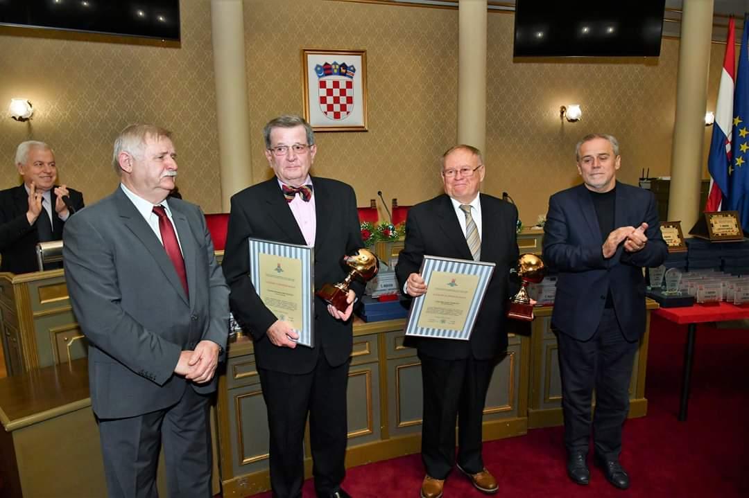 Josip Florian i Branimir Hranilović, dobitnici nagrade za životno djelu u auto i karting sportu