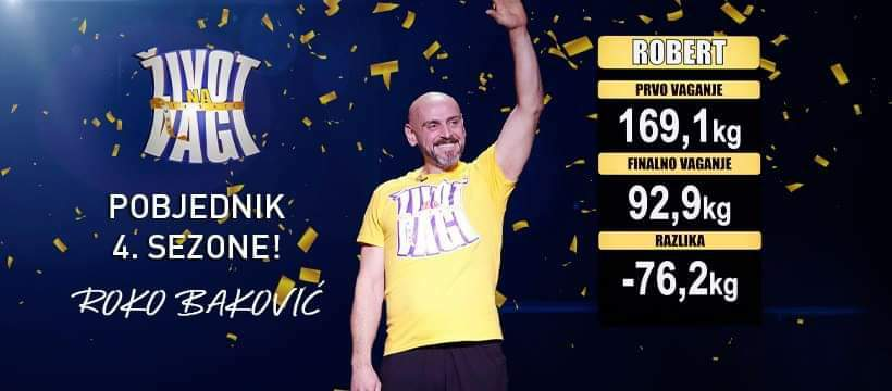 "Ģoričanin Roko Baković pobjednik ""Života na vagi"""