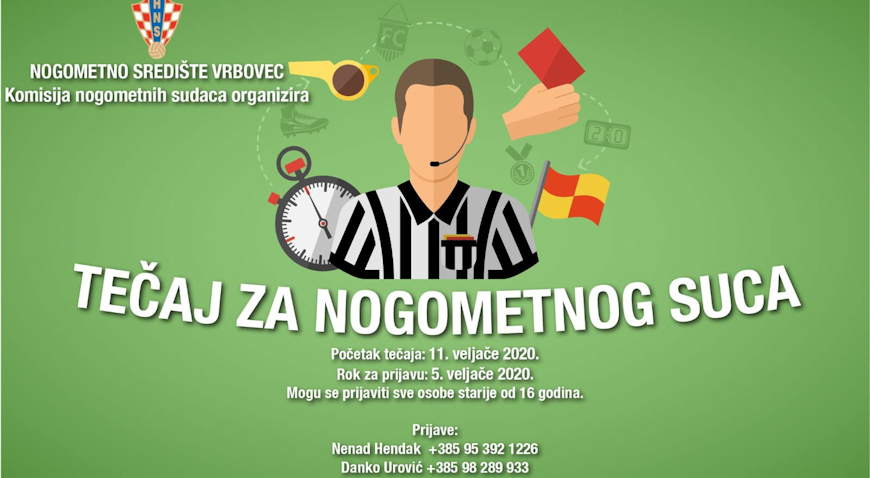 Nogometno središte Vrbovec traži nove suce